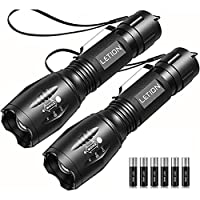 2-Pack Letion UV Light LED Black Light Flashlights