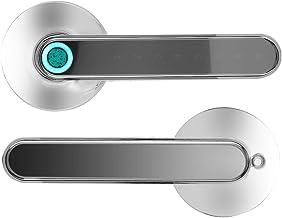 Fechadura de porta por impressão digital, fechadura de porta de entrada sem chave Bluetooth inteligente de liga de zinco, ...