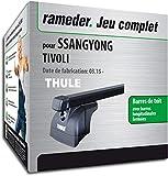Rameder Pack Barres de Toit SquareBar pour SsangYong Tivoli (132383-14015-1-FR)