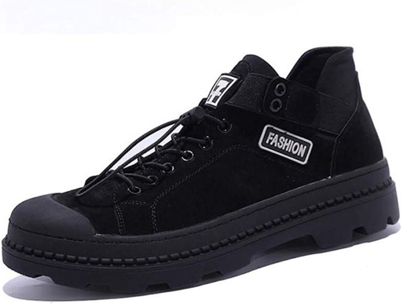 DANDANJIE Men Es Casual Martin Stiefel Outdoor-Sportstiefel Im Britischen Stil Schuhe,schwarz,42EU