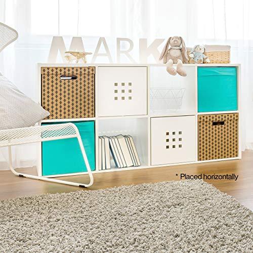 CAP LIVING Room Cube Organizer w/ Bins , Open Storage Shelf Bookcase, Colors Available in White and Espresso