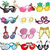 12 Pares de Gafas de Fiesta Luau Gafas Divertidas Hawaianas Accesorios de Disfraces Tropicales para Suministros de Fiesta Temáticos de Playa Verano Favores Divertidos de Niños Decoración
