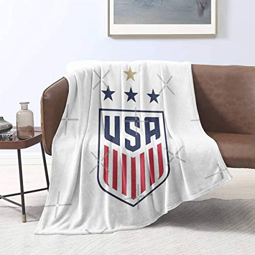 Ucaptain USWNT US Womens National Soccer Team Multifunctional Blankets Air Conditioning Blanket Flannel Plush Throw Decorative Soft Cover All Season Lightweight Bed Blanket
