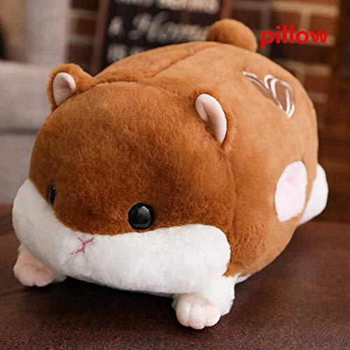 KXCAQ 50cm Hamster muñecos de Peluche Juguetes de Peluche simulación hámster Conejillo de Indias Grandes Manos Calentador Juguetes de Peluche niños Regalo de cumpleaños 50cm 2