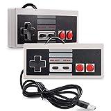 TRIXES NES Estilo Gaming Controlador USB apropiado, Paquete de 2 - Joypads Retro USB para Juegos...