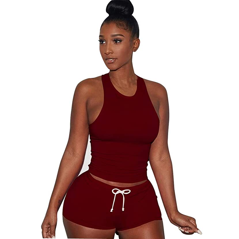 Two Piece Outfits for Women Sleeveless Split Casual Short Pants Casual Outfit Sportswear Short Sets