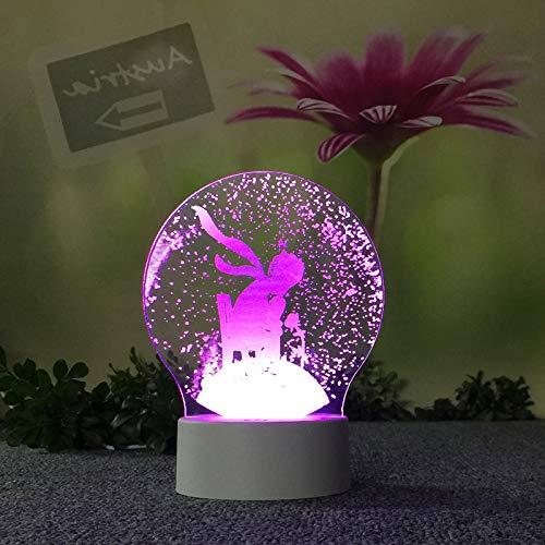 BFMBCHDJ 3d schreibtischlampe geschenk urlaub dekoration baby zimmer lampe kind schlafzimmer nacht dekoration nachtlicht a2 weiß riss basis