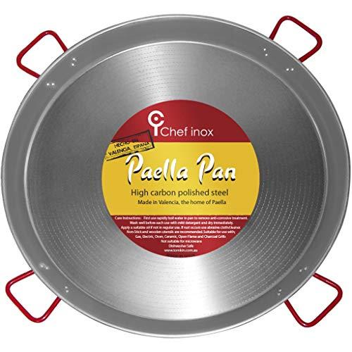 Garcima Poêle à Paella en Acier Poli la Idéal 90cm