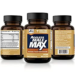 Ageless Male Max Total Testosterone & Nitric Oxide Booster for Men