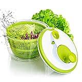 AnGeer Salad Spinner Large Multifunction 4.5 Quart Design BPA Free,Manual Good Grips Crank