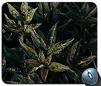 緑の植物パーソナライズされた長方形のマウスパッドファッション、印刷された滑り止めゴム快適なカスタマイズされたコンピューターマウスパッドファッションマウスマットマウスパッドファッション