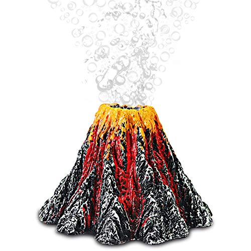 Aquarium Volcano Ornament,Resin Lava Volcano Colorful Fish Tank,Fish Tank Volcano Ornament, for Aquarium, Fish Tank and Home Landscaping Crafts