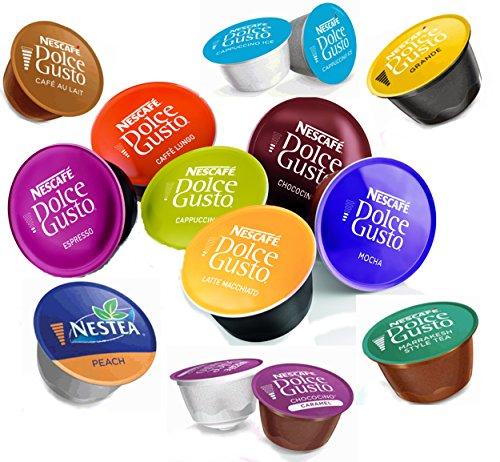 Nescafé® Dolce Gusto® Probierpaket - 42 verschiedene Kapseln / 31 verschiedene Sorten