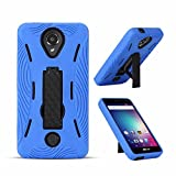 New Frontier Wireless Accessory BLU R1 HD case, NFW} Premium Rugged Tough Hybrid Dual Layer Heavy Duty Kickstand Case Cover for BLU R1 HD (R0010UU)(HVD Blue)