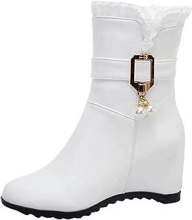 ELEEMEE Women Wedge Heel Ankle Boots