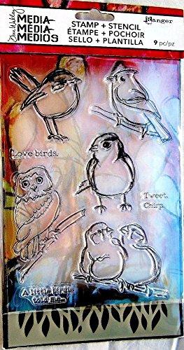 RANGER Stamp & Stencil - Little Birdies