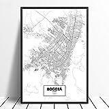 Leinwanddruck,Bogota Kolumbien Schwarz Weiß
