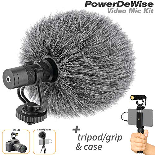 Video Microphone - Unidirectional On-Camera Microphone for DSLR Cameras and Phones - Directional Cardioid iPhone Video Microphone