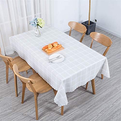DOTBUY Nappe de Table, Rectangulaire Tissu Lavable Entretien Facile Résistant Multi-usages Intérieur et Extérieur Anti-Salissure Étanche