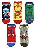 Marvel Avengers Chibi Superhero Characters Ankle No Show Socks 5 Pair