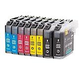 8 cartucce inchiostro compatibile per Brother LC223XL con chip per Brother DCP-J4120DW/MFC-J4420DW/MFC-J4620DW/MFC-J4625DW/MFC-J4425DW/MFC-J5320DW/MFC-J5620DW/MFC-J5625DW/MFC-J5720DW