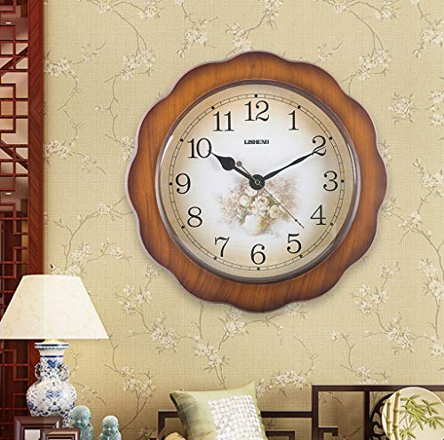 Horloge murale sous contrat Salon muet Horloge contemporaine Horloge murale Chambre à coucher Horloge À Quartz Horloge Salle À Manger Pendule Horloge (Couleur : B)