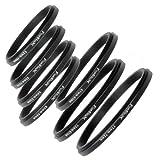 Fotodiox 7 Metal Step Down Ring Set, Anodized Black Metal. 77-72mm, 72-67mm, 67-62mm, 62-5...