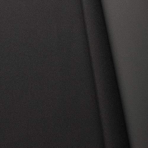 STOFFKONTOR Oxford 600D Gewebe, PVC Beschichtet wasserundurchlässig, Outdoorstoff Meterware - Schwarz