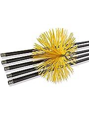 Kibros 4RD - Muelle de arranque flexible | acero 230 x 20 mm | puntas 12 x 175 | Adaptable sobre erizos y cañas de deshollinar | chimeneas, conductos, estufas, calderas, canalones, canalones | Kibros 4RD