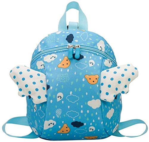 Children backpack Kids Backpack, Toddler Anti-Lost Bag Girl backpack cute kindergarten school bag small wings cartoon backpack lightweight with traction rope backpack for 2-10 year old children backpa
