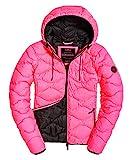 Superdry - Giacca da donna Astrae, trapuntata, colore: rosa fluo rosa. M