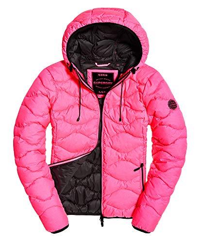 Superdry Women's Astrae Quilt Padded Jacket - Fluro Pink - UK 12 - Pink