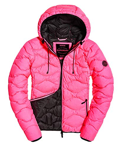 Superdry jas dames ASTRAE Quilt Padded Jacket Fluro Pink