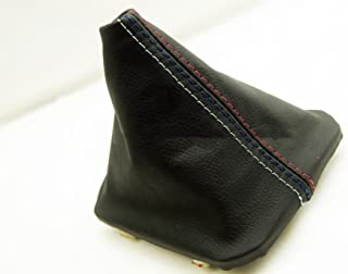 Fits 1992-1999 BMW E36 325 328 318 323 Real Black Leather Manual Shift Boot with M Type Stitch Stitching (Leather Part Only)