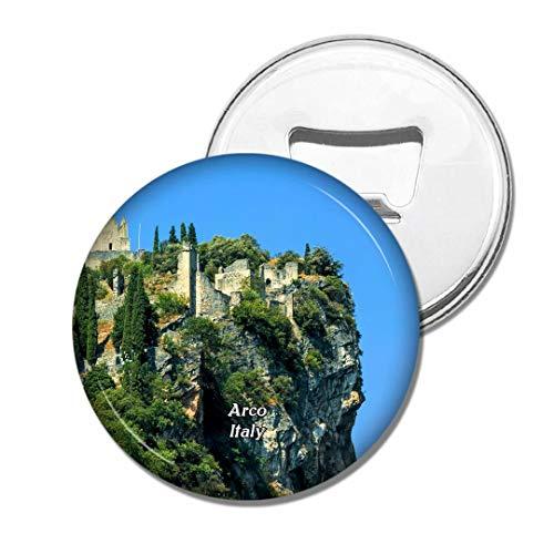 Weekino Italien Arco Schloss Bier Flaschenöffner Kühlschrank Magnet Metall Souvenir Reise Gift