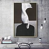 wZUN Leinwandmalerei nordische abstrakte Porträtplakate