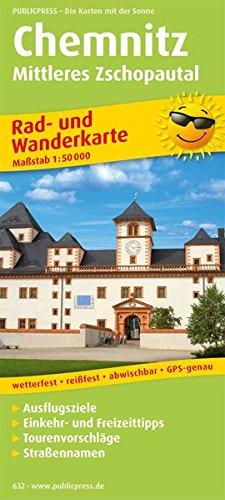 Chemnitz, Mittleres Zschopautal: Rad- und Wanderkarte mit Ausflugszielen, Einkehr- & Freizeittipps, wetterfest, reißfest, abwischbar, GPS-genau. 1:50000 (Rad- und Wanderkarte / RuWK)