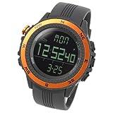 [Lad Weather] Sensor de Alemán brújula digital altímetro barómetro cronógrafo alarma pronóstico del tiempo multifuncional al aire libre deporte relojes (escalada/senderismo/correr/caminar/Camping) hombre