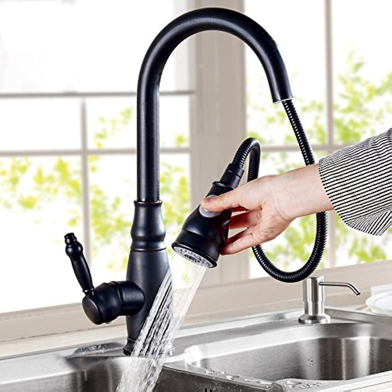 CZOOR Antike Küche Wasserhahn kalte Waschbecken Armatur Waschbecken Wasserhahn dunkel Kupfer Strecken ziehen Bibcock