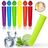 Yanhonin 6 Stück Eiswürfelform aus Silikon, Popsicle Formen DIY, wiederverwendbar, Schnullerform