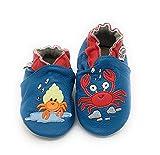 lepeppe - scarpine in morbida pelle prima infanzia - pantofole bambino - suola in pelle antiscivolo - babbucce - scarpette fino al 32/33 - granchietti (24/25, x_l)
