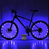 Xyemao Led Bike Wheel Lights, (2 Tire Pack) Waterproof Bright Bicycle Light Strip, Ultimate Safety & Style Lights, Cool Kids Bike Accessories, 3 AA Battery(Include),Blue