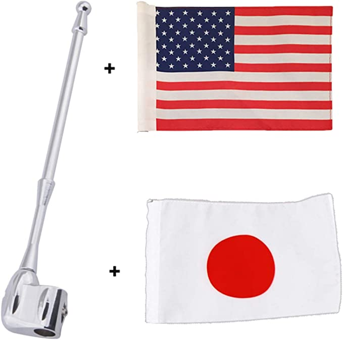 5.5/'/'x9/'/' American Flag Antenna Flag Pole Mount For Honda GL1800 GL1500 Goldwing