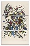 Printed Paintings Impresión sobre Lienzo 3 Partes(80x120cm): Wassily Kandinsky - Litografía para