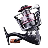 Decdeal Fishing Wheel All Metal Spinning Wheel Fishing Line Wheel Sea Rod Fish Wheel Stone Casting Wheel Long Throw Fishing Wheel New Fishing Reel Fishing Metal Spool Spinning Reel Saltwater Reel