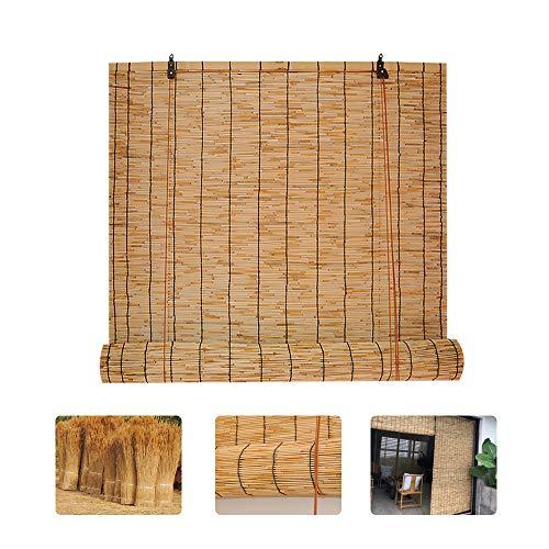 HMM Bambus Raffrollo 100 Cm Breit Schilfrollos Holzrollos Fur Fenster Natürlicher Reed-vorhang Rollo Holz Grau Sichtschutz Bambus Für Innen/außen/garten/anpassbar