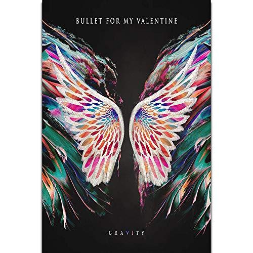Handaxian My Valentine Gravity Musikalbum Kunst Leinwand Ölgemälde Home Decor Poster Print 70x110cm Rahmenlos