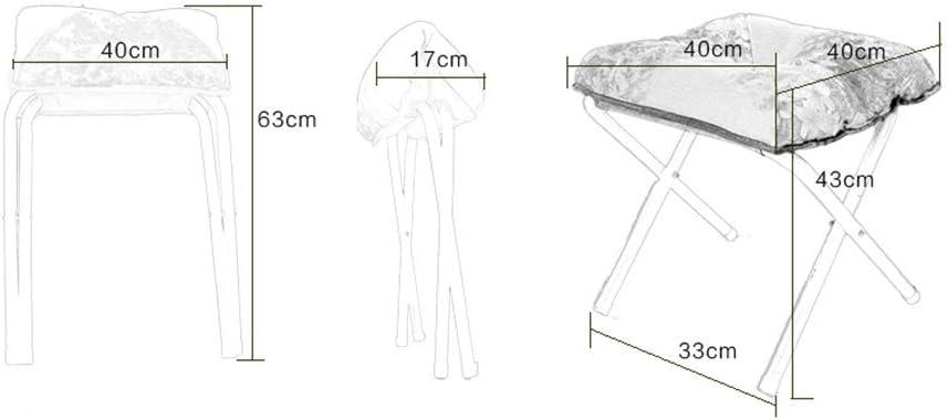 MinMin Tabouret Pliant Tabouret canapé Tabouret Tabouret Bas Tissu Chaise de Loisirs Portable Design Lavable, Une variété de Couleurs à Choisir Chaise de Camping (Color : D) F