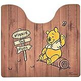 オカ(OKA) ディズニー拭けるトイレマット 約55cm×60cm くまのプーさん(ブラウン)(拭くだけ PVC ビニール) 4548622744842