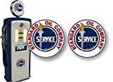 2 Vintage Standard Oil Service 9' Antique Gas Station Decals for Garage Service Station Gas Pump Sign Stickers (9'x9')